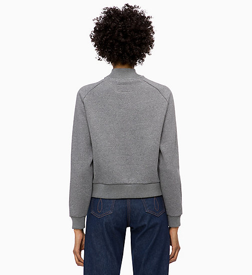 CALVIN KLEIN JEANS Sweat-shirt avec logo - MID GREY HEATHER - CALVIN KLEIN JEANS IN THE THICK OF IT FOR HER - image détaillée 1