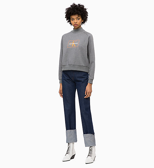 CALVIN KLEIN JEANS Felpa con logo - MID GREY HEATHER - CALVIN KLEIN JEANS IN THE THICK OF IT FOR HER - dettaglio immagine 1