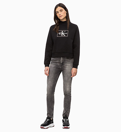 CALVIN KLEIN JEANS Logo Sweatshirt - CK BLACK - CALVIN KLEIN JEANS IN THE THICK OF IT FOR HER - detail image 1