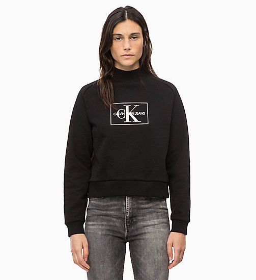 CALVIN KLEIN JEANS Logo Sweatshirt - CK BLACK - CALVIN KLEIN JEANS IN THE THICK OF IT FOR HER - main image