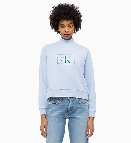 CALVIN KLEIN JEANS Logo-Sweatshirt - CHAMBRAY BLUE - CALVIN KLEIN JEANS CLOTHES - main image