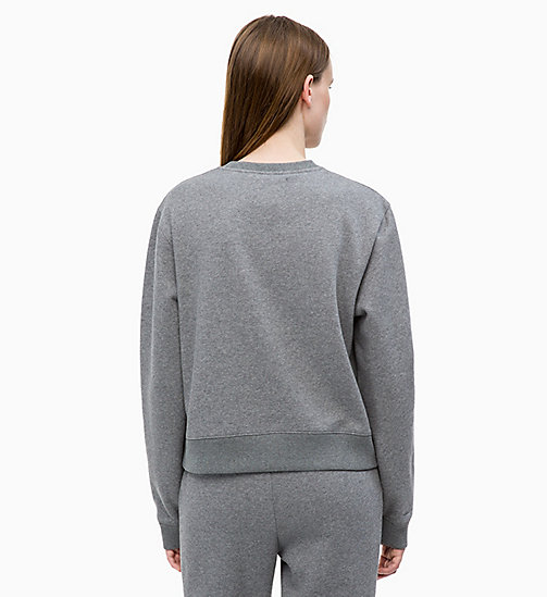 CALVIN KLEIN JEANS Badge Sweatshirt - MID GREY HEATHER - CALVIN KLEIN JEANS NEW IN - detail image 1