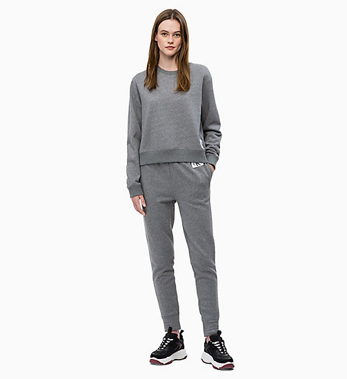 CALVIN KLEIN JEANS Свитшот с лого-бейджем - MID GREY HEATHER - CALVIN KLEIN JEANS The New Off-Duty - подробное изображение 1