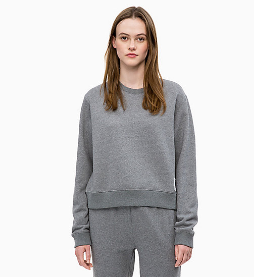 CALVIN KLEIN JEANS Sweat-shirt avec insigne - MID GREY HEATHER - CALVIN KLEIN JEANS The New Off-Duty - image principale