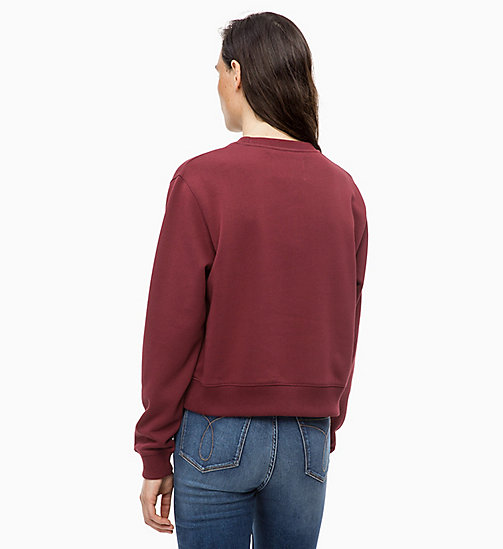 CALVIN KLEIN JEANS Sweatshirt met embleem - TAWNY PORT - CALVIN KLEIN JEANS The New Off-Duty - detail image 1