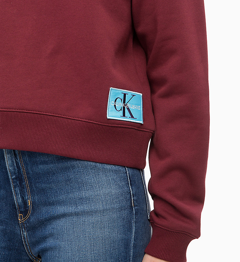 CALVIN KLEIN JEANS Badge Sweatshirt - MID GREY HEATHER - CALVIN KLEIN JEANS UNDERWEAR - detail image 2