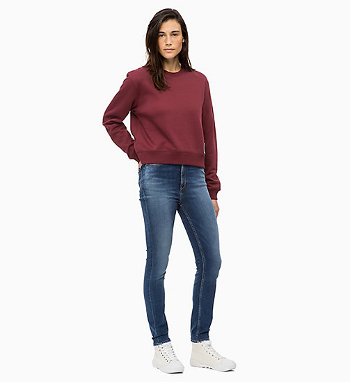 CALVIN KLEIN JEANS Badge-Sweatshirt - TAWNY PORT - CALVIN KLEIN JEANS The New Off-Duty - main image 1