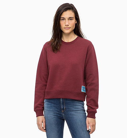 CALVIN KLEIN JEANS Badge Sweatshirt - TAWNY PORT -  NEW IN - main image