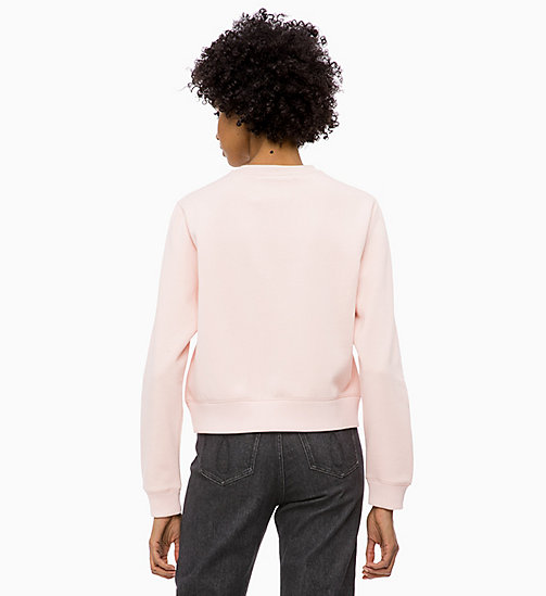 CALVIN KLEIN JEANS Badge Sweatshirt - CHINTZ ROSE -  NEW IN - detail image 1