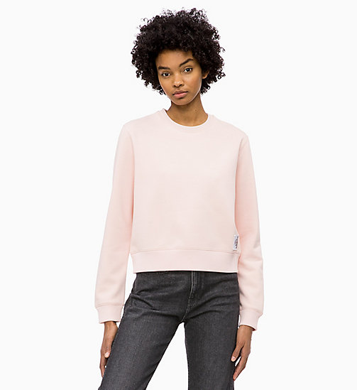 CALVIN KLEIN JEANS Badge Sweatshirt - CHINTZ ROSE - CALVIN KLEIN JEANS CLOTHES - main image