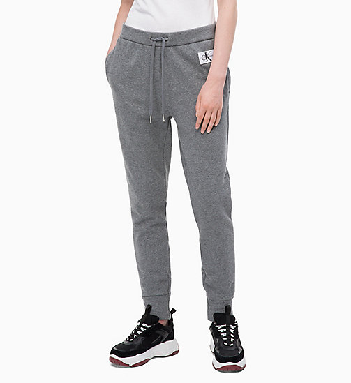 CALVIN KLEIN JEANS Joggers - MID GREY HEATHER - CALVIN KLEIN JEANS IN THE THICK OF IT FOR HER - main image
