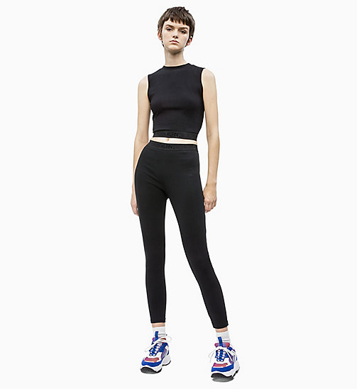 CALVIN KLEIN JEANS Milano Jersey Leggings - CK BLACK - CALVIN KLEIN JEANS IN THE THICK OF IT FOR HER - detail image 1