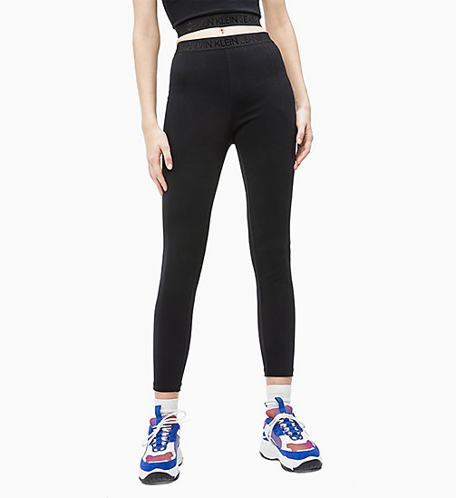 CALVIN KLEIN JEANS Milano Jersey Leggings - CK BLACK - CALVIN KLEIN JEANS IN THE THICK OF IT FOR HER - main image