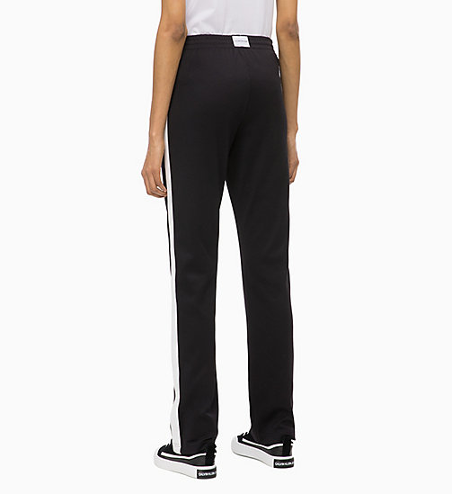 CALVIN KLEIN JEANS Pantalón deportivo con raya lateral - CK BLACK - CALVIN KLEIN JEANS IN THE THICK OF IT FOR HER - imagen detallada 1