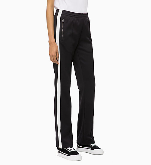 CALVIN KLEIN JEANS Joggingbroek met streep op zijkant - CK BLACK - CALVIN KLEIN JEANS IN THE THICK OF IT FOR HER - main image
