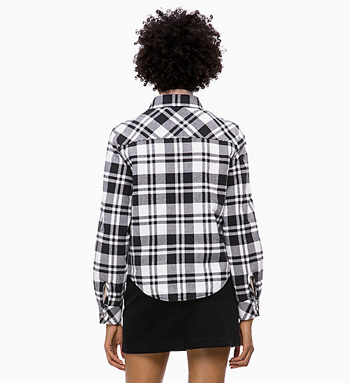 CALVIN KLEIN JEANS Flannel Check Shirt Jacket - BLACK/BRIGHT WHITE CHECK - CALVIN KLEIN JEANS FALL DREAMS - detail image 1