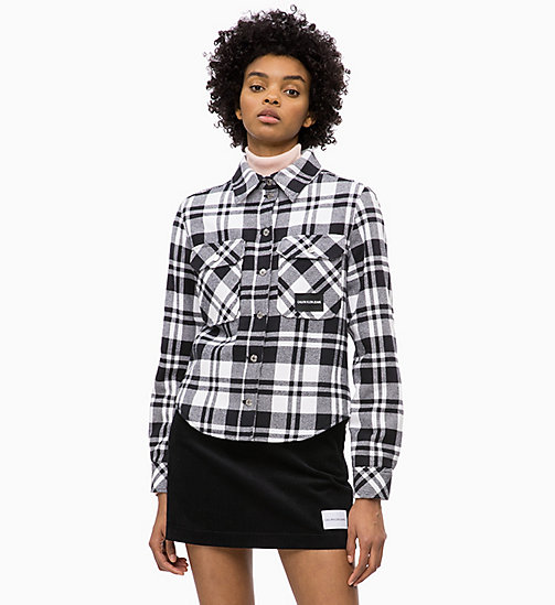 CALVIN KLEIN JEANS Flannel Check Shirt Jacket - BLACK/BRIGHT WHITE CHECK - CALVIN KLEIN JEANS FALL DREAMS - main image