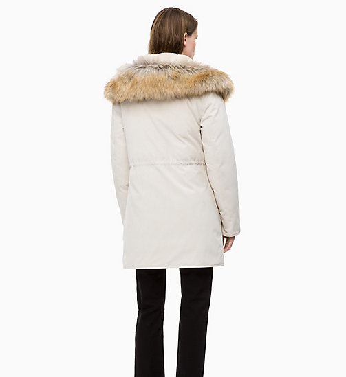 CALVIN KLEIN JEANS Down Parka Jacket - OATMEAL - CALVIN KLEIN JEANS NEW IN - detail image 1