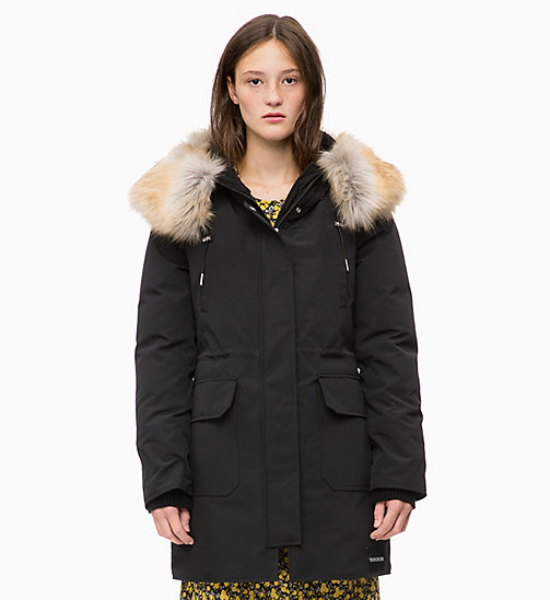 CALVIN KLEIN JEANS Down Parka Jacket - CK BLACK - CALVIN KLEIN JEANS NEW IN - main image