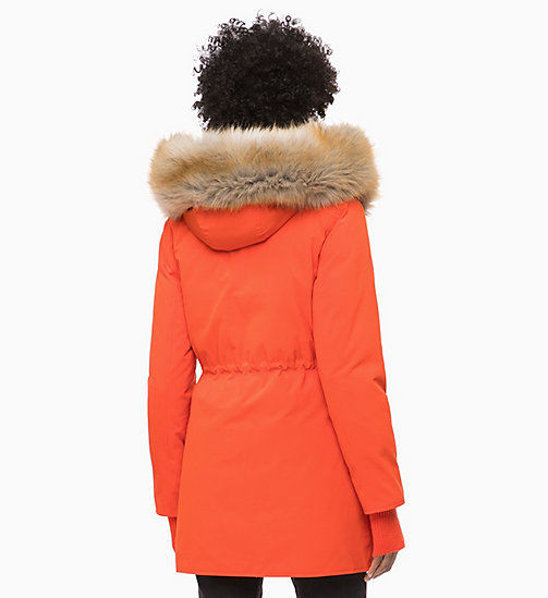 CALVIN KLEIN JEANS Down Parka Jacket - PUMPKIN RED - CALVIN KLEIN JEANS NEW IN - detail image 1