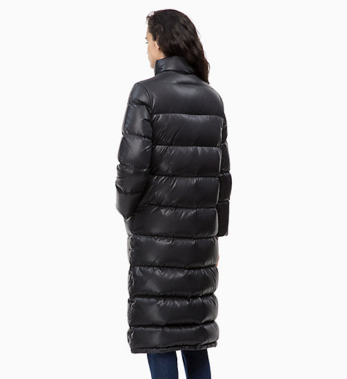 CALVIN KLEIN JEANS Down Long Puffer Coat - CK BLACK - CALVIN KLEIN JEANS IN THE THICK OF IT FOR HER - detail image 1
