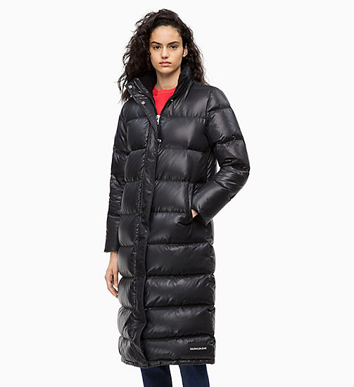 CALVIN KLEIN JEANS Down Long Puffer Coat - CK BLACK - CALVIN KLEIN JEANS IN THE THICK OF IT FOR HER - main image