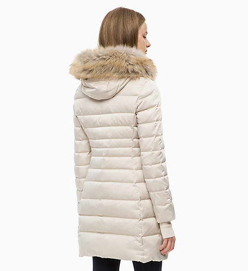 CALVIN KLEIN JEANS Quilted Down Parka Jacket - OATMEAL - CALVIN KLEIN JEANS NEW IN - detail image 1