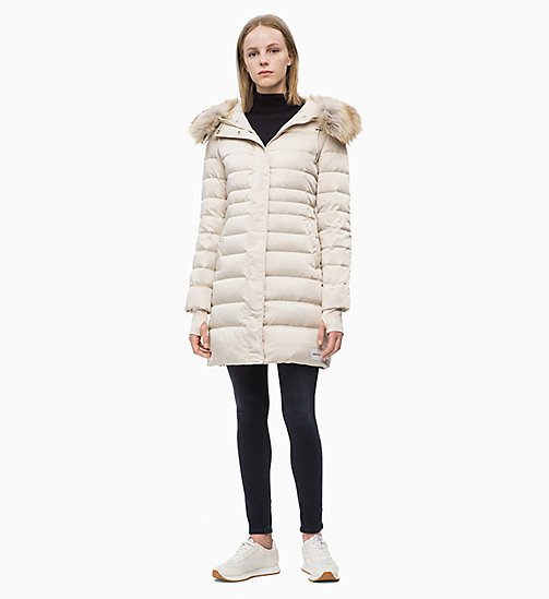 CALVIN KLEIN JEANS Quilted Down Parka Jacket - OATMEAL - CALVIN KLEIN JEANS CLOTHES - detail image 1