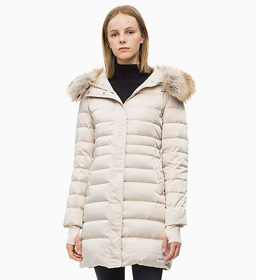 CALVIN KLEIN JEANS Quilted Down Parka Jacket - OATMEAL - CALVIN KLEIN JEANS NEW IN - main image