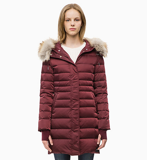 CALVIN KLEIN JEANS Quilted Down Parka Jacket - TAWNY PORT - CALVIN KLEIN JEANS NEW IN - main image
