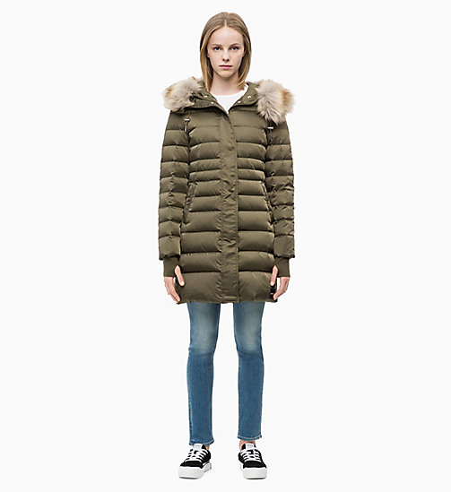 CALVIN KLEIN JEANS Quilted Down Parka Jacket - GRAPE LEAF - CALVIN KLEIN JEANS COATS - detail image 1