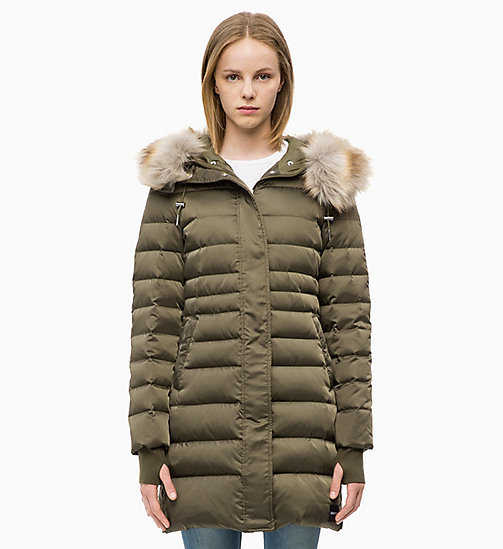 CALVIN KLEIN JEANS Quilted Down Parka Jacket - GRAPE LEAF - CALVIN KLEIN JEANS WOMEN - main image