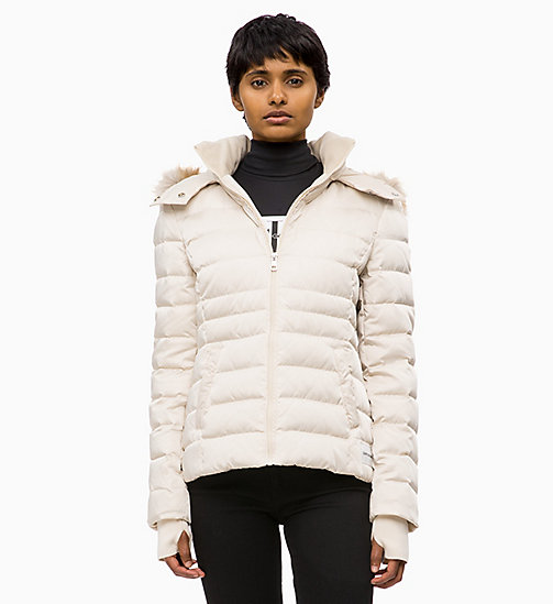 CALVIN KLEIN JEANS Quilted Down Jacket - OATMEAL - CALVIN KLEIN JEANS NEW IN - main image