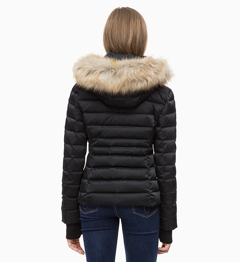 CALVIN KLEIN JEANS Quilted Down Jacket - TAWNY PORT - CALVIN KLEIN JEANS WOMEN - detail image 1