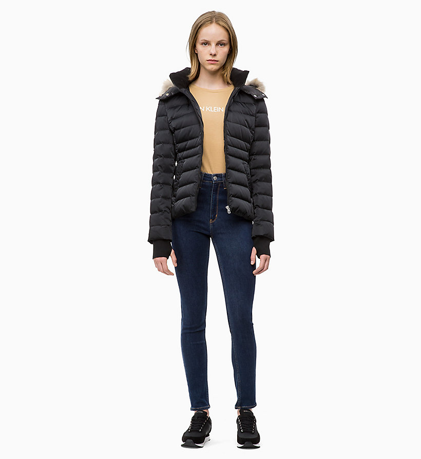 CALVIN KLEIN JEANS Quilted Down Jacket - TAWNY PORT - CALVIN KLEIN JEANS WOMEN - detail image 3