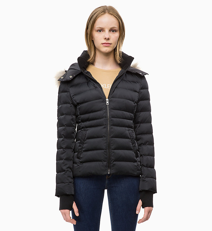 CALVIN KLEIN JEANS Quilted Down Jacket - TAWNY PORT - CALVIN KLEIN JEANS WOMEN - main image