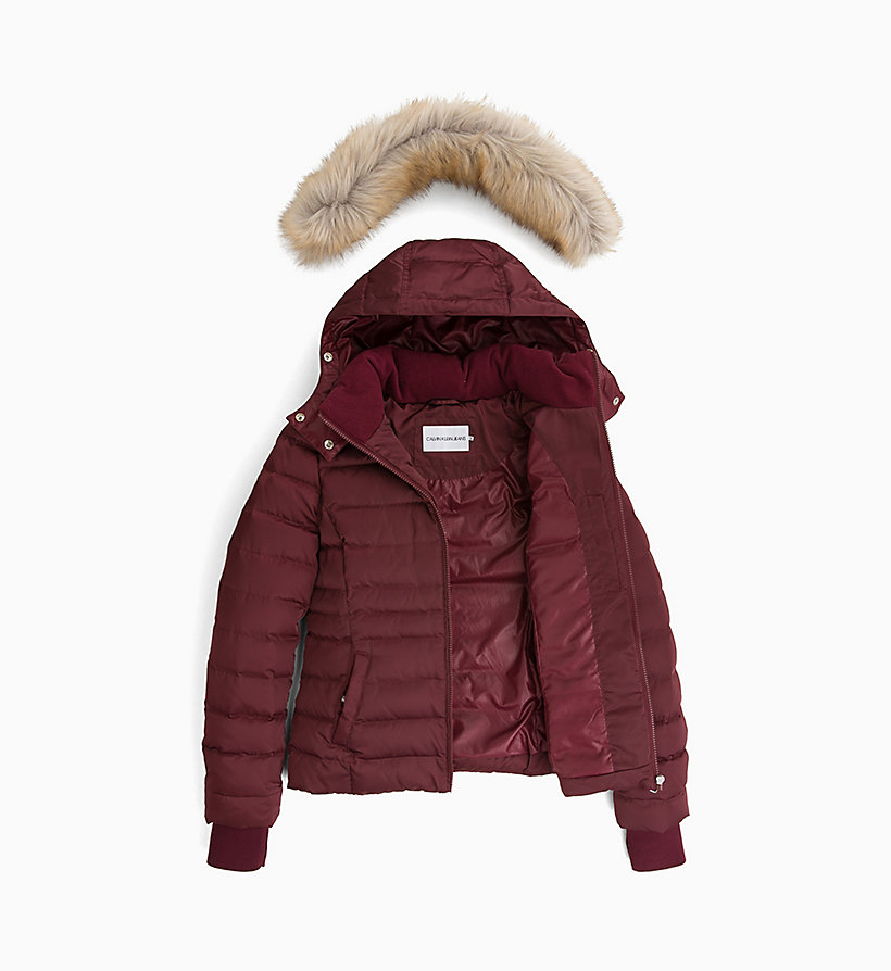 CALVIN KLEIN JEANS Quilted Down Jacket - OATMEAL - CALVIN KLEIN JEANS WOMEN - detail image 4