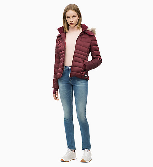 CALVIN KLEIN JEANS Quilted Down Jacket - TAWNY PORT - CALVIN KLEIN JEANS CLOTHES - detail image 1