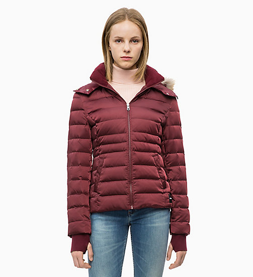 CALVIN KLEIN JEANS Quilted Down Jacket - TAWNY PORT - CALVIN KLEIN JEANS NEW IN - main image