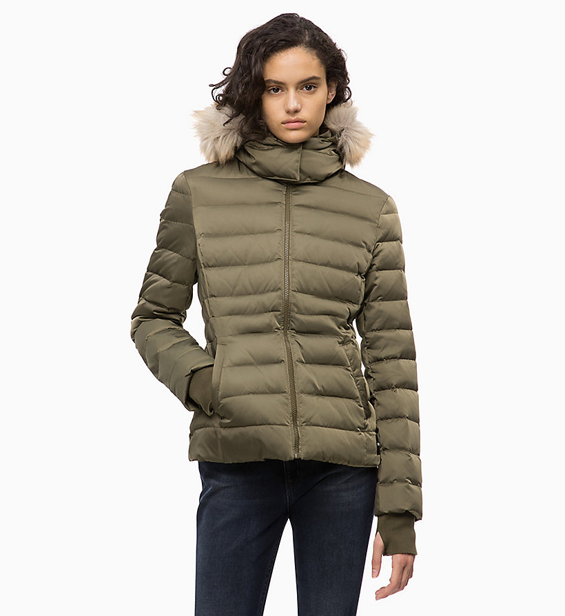 CALVIN KLEIN JEANS Quilted Down Jacket - PUMPKIN RED - CALVIN KLEIN JEANS WOMEN - main image