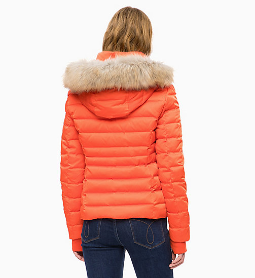 CALVIN KLEIN JEANS Quilted Down Jacket - PUMPKIN RED - CALVIN KLEIN JEANS CLOTHES - detail image 1