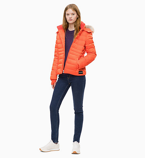CALVIN KLEIN JEANS Quilted Down Jacket - PUMPKIN RED - CALVIN KLEIN JEANS WOMEN - detail image 1