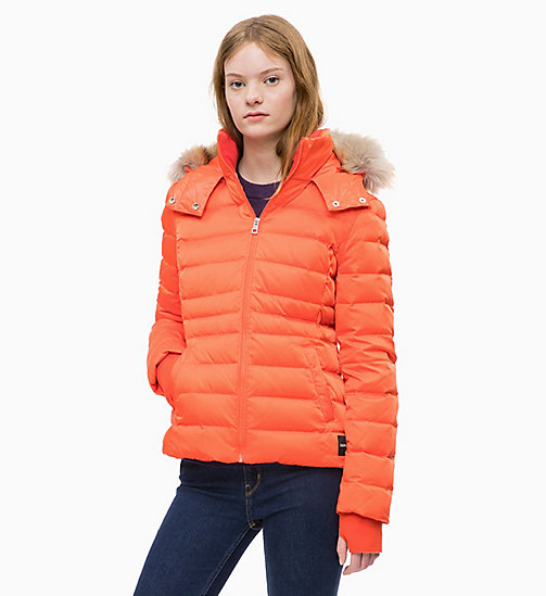 CALVIN KLEIN JEANS Quilted Down Jacket - PUMPKIN RED - CALVIN KLEIN JEANS NEW IN - main image