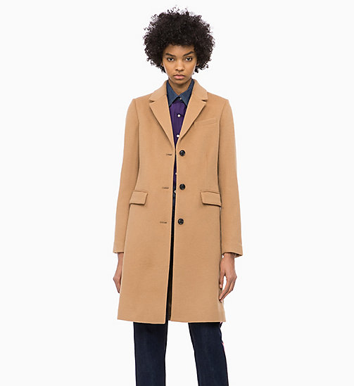 CALVIN KLEIN JEANS Wool Blend Coat - TANNIN - CALVIN KLEIN JEANS FALL DREAMS - main image