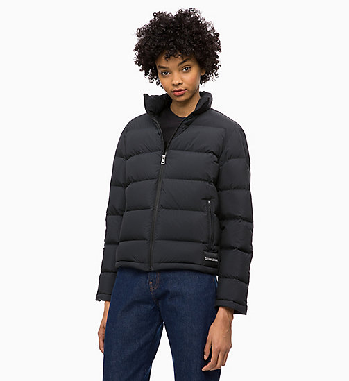 CALVIN KLEIN JEANS Down Short Puffer Jacket - CK BLACK - CALVIN KLEIN JEANS NEW IN - main image