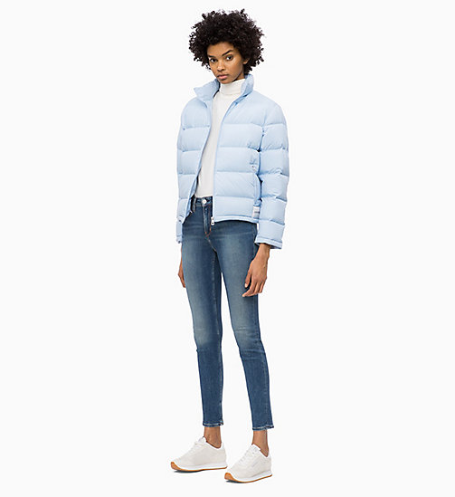 CALVIN KLEIN JEANS Down Short Puffer Jacket - CHAMBRAY BLUE - CALVIN KLEIN JEANS CLOTHES - detail image 1