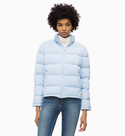 CALVIN KLEIN JEANS Down Short Puffer Jacket - CHAMBRAY BLUE - CALVIN KLEIN JEANS NEW IN - main image