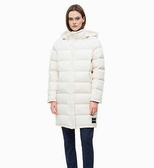 CALVIN KLEIN JEANS Down Puffer Coat - EGRET - CALVIN KLEIN JEANS NEW IN - main image