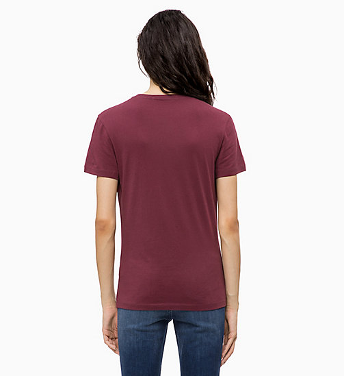 CALVIN KLEIN JEANS Organic Cotton Logo T-shirt - TAWNY PORT - CALVIN KLEIN JEANS The New Off-Duty - detail image 1