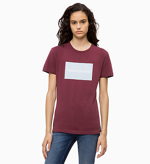 CALVIN KLEIN JEANS Organic Cotton Logo T-shirt - TAWNY PORT - CALVIN KLEIN JEANS The New Off-Duty - main image